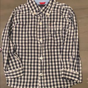 Navy Tommy Hilfiger button down shirt
